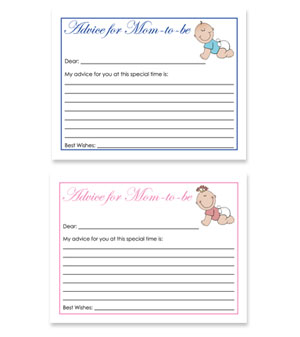 baby theme free baby shower advice for card
