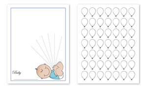 photograph relating to Printable Guest Book referred to as Child Topic Shower Visitor E-book Print
