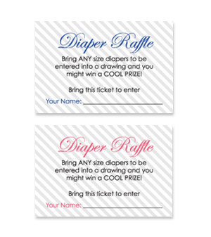 Teddy Bear Theme Free Printable Baby Shower Diaper Raffle Tickets