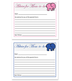 Nautical Theme Advice Card Elephant