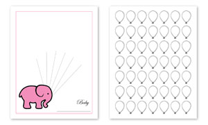 photo relating to Baby Shower Guest Book Printable titled Elephant Topic Little one Shower Visitor E-book Print