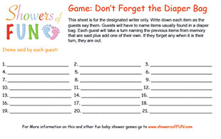 graphic about Don't Say Baby Sign Free Printable named Cost-free Printable Youngster Shower Video games