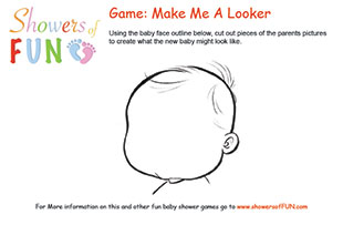 Make me a looker baby shower game