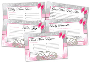 Princess baby shower games