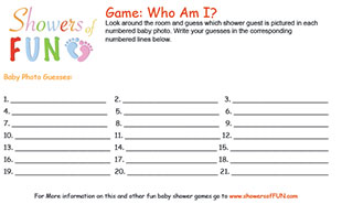 photograph about Guess the Baby Food Game Free Printable identified as No cost Printable Kid Shower Game titles