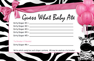 picture about Candy Bar Baby Shower Game Free Printable known as Wager What the Little one Ate - Sweet Bar Soiled Diaper Sport