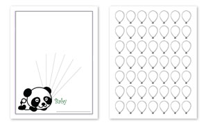graphic regarding Baby Shower Guest Book Printable known as Panda Concept Child Shower Visitor E-book Print