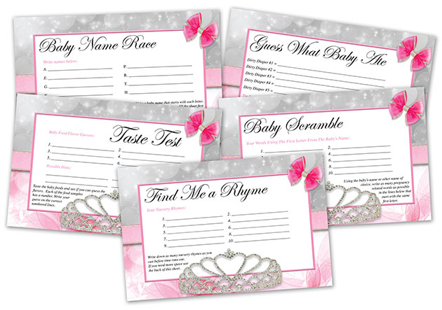 Princess Printable Baby Shower Games
