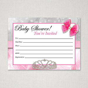 graphic about Printable Princess Invitations titled Princess Topic Totally free Printable Little one Shower Invitation