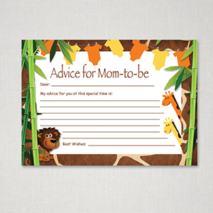 Safari advice for Mom-to-be card