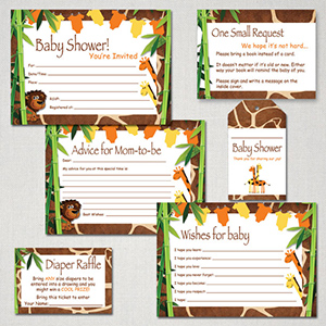 Safari baby shower free printable package
