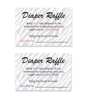 Charming Free Printable Baby Shower Diaper Raffle Tickets